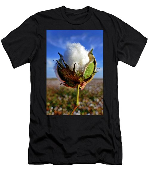 Men's T-Shirt (Slim Fit) featuring the photograph Cotton Pickin' by Skip Hunt