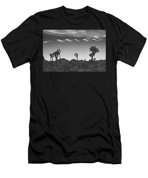 Cotton Sky On Joshua Trees Men's T-Shirt (Slim Fit) by Joseph Westrupp