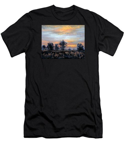 Cottonwoods At Sunset Men's T-Shirt (Slim Fit)