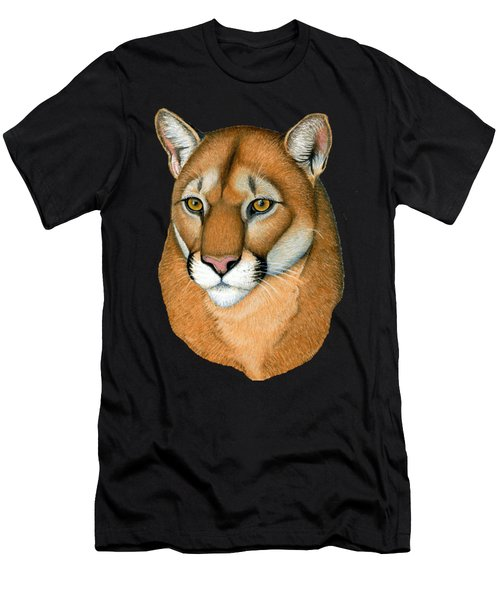 Cougar Portrait Men's T-Shirt (Athletic Fit)