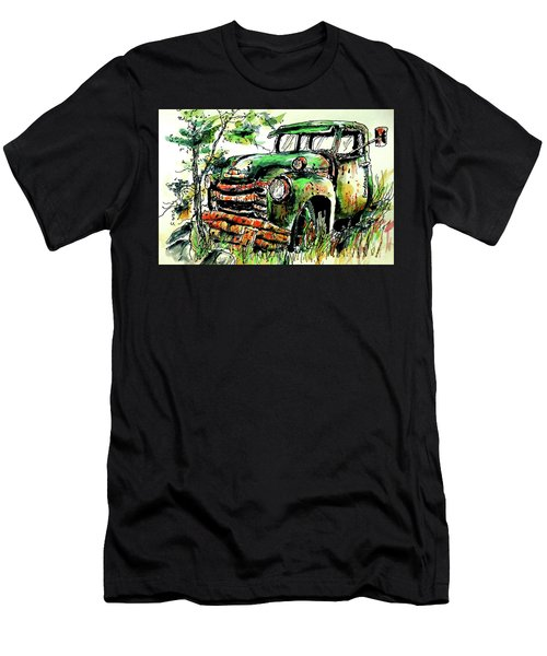 Men's T-Shirt (Slim Fit) featuring the painting Country Antiques by Terry Banderas