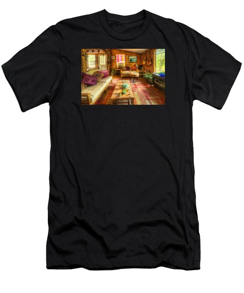 Men's T-Shirt (Athletic Fit) featuring the photograph Country Cabin by Daniel George