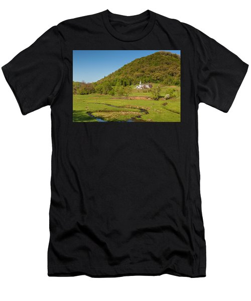 Country Church  Men's T-Shirt (Athletic Fit)