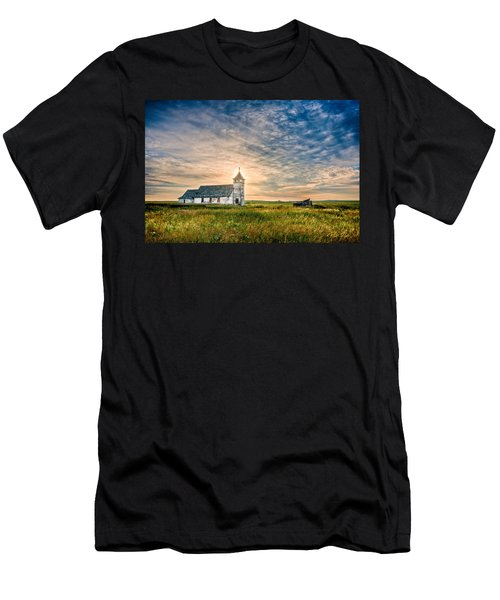 Country Church Sunrise Men's T-Shirt (Athletic Fit)
