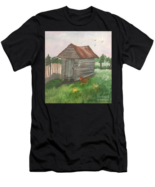 Country Corncrib Men's T-Shirt (Athletic Fit)