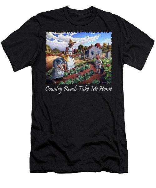 Country Roads Take Me Home T Shirt - Appalachian Family Garden Countryl Farm Landscape 2 Men's T-Shirt (Athletic Fit)