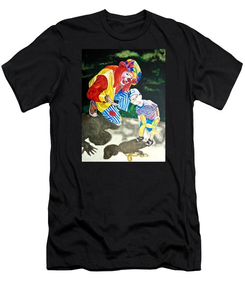Men's T-Shirt (Slim Fit) featuring the painting Couple Of Clowns by Lance Gebhardt