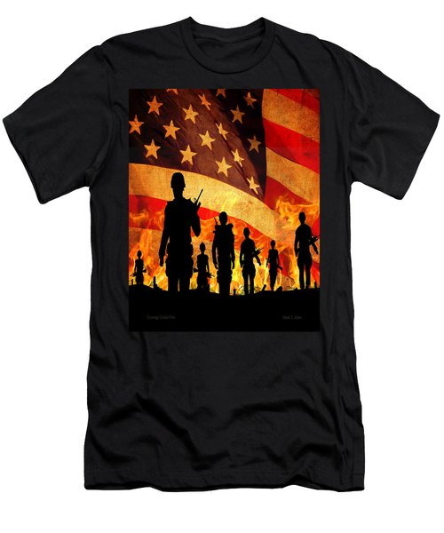 Courage Under Fire Men's T-Shirt (Athletic Fit)