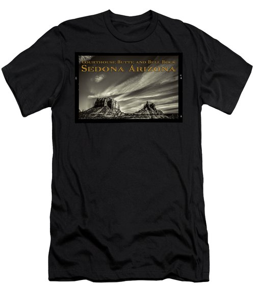 Courthouse Butte And Bell Rock Sedona Arizona Men's T-Shirt (Athletic Fit)