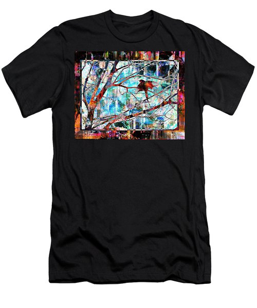 Courting Bird Men's T-Shirt (Athletic Fit)