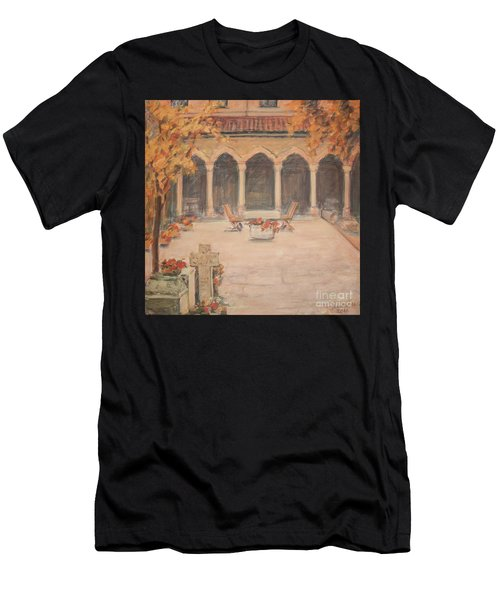 Courtyard Of Stravopoleos Church Men's T-Shirt (Athletic Fit)