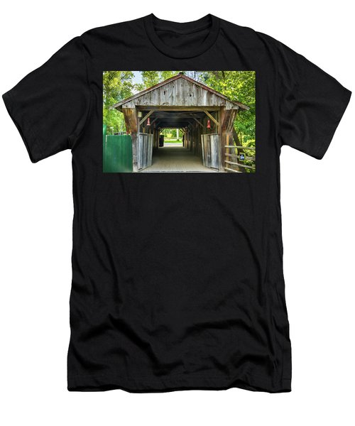 Covered Bridge Hdr Men's T-Shirt (Athletic Fit)