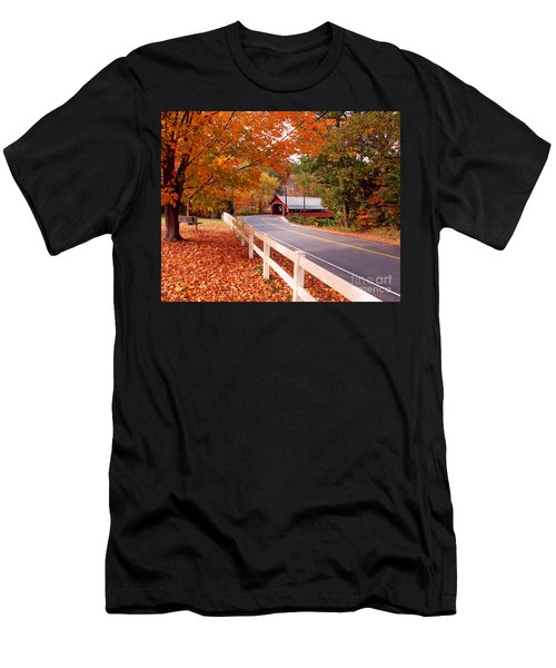 Covered Bridge In Brattleboro Vt Men's T-Shirt (Athletic Fit)