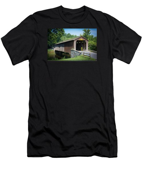 Covered Bridge Men's T-Shirt (Slim Fit) by Kenneth Cole