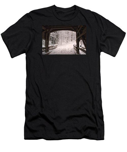 Covered Bridge Men's T-Shirt (Slim Fit) by Michael McGowan