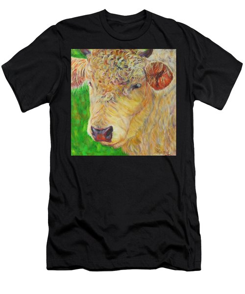 Cute And Curly Cow Men's T-Shirt (Athletic Fit)