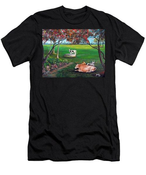 Cow Tales Men's T-Shirt (Athletic Fit)