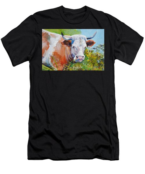 Cow With Horns Men's T-Shirt (Athletic Fit)