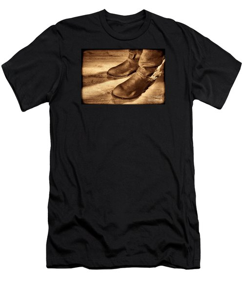 Cowboy Boots On Saloon Floor Men's T-Shirt (Athletic Fit)