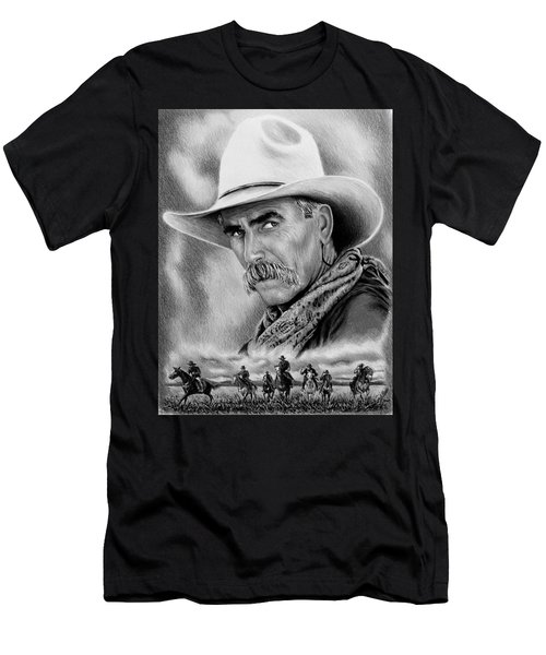 Cowboy Bw Men's T-Shirt (Athletic Fit)