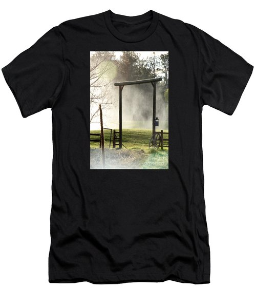 Men's T-Shirt (Athletic Fit) featuring the photograph Cowboy Fence by Beauty For God