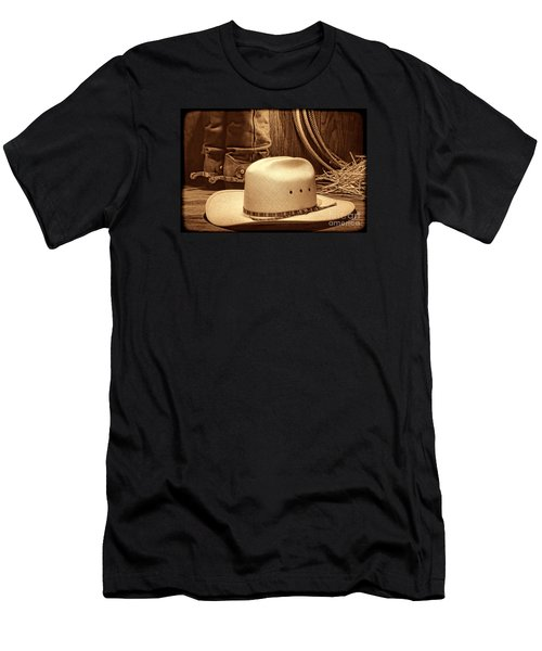Cowboy Hat With Western Boots Men's T-Shirt (Athletic Fit)