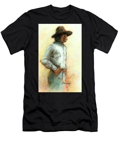 Cowboy In Thought Men's T-Shirt (Athletic Fit)
