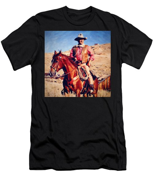 Cowboy John Wayne Men's T-Shirt (Athletic Fit)