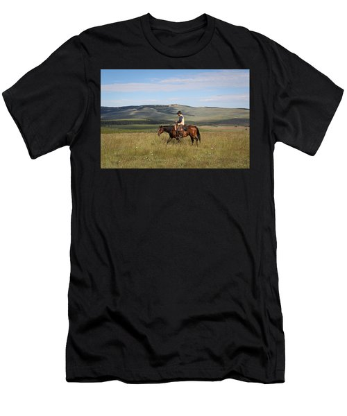 Cowboy Landscapes Men's T-Shirt (Athletic Fit)