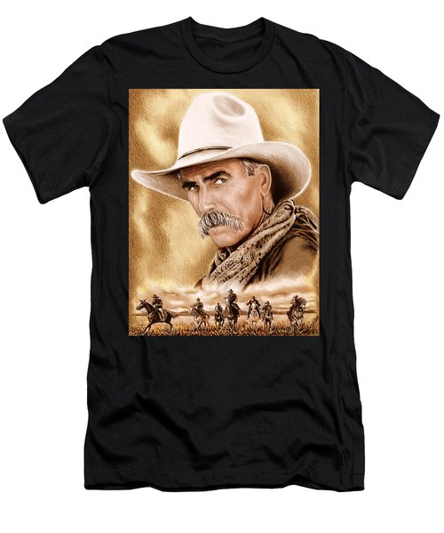 Cowboy Sepia Edit Men's T-Shirt (Athletic Fit)