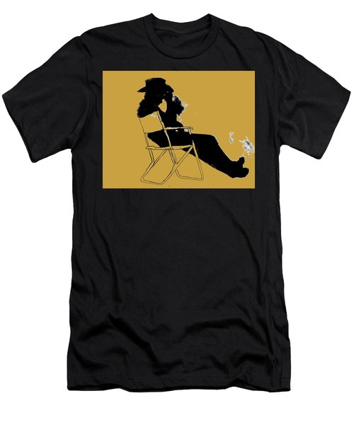 Men's T-Shirt (Athletic Fit) featuring the mixed media Cowboy Silhouette by W And F Kreations