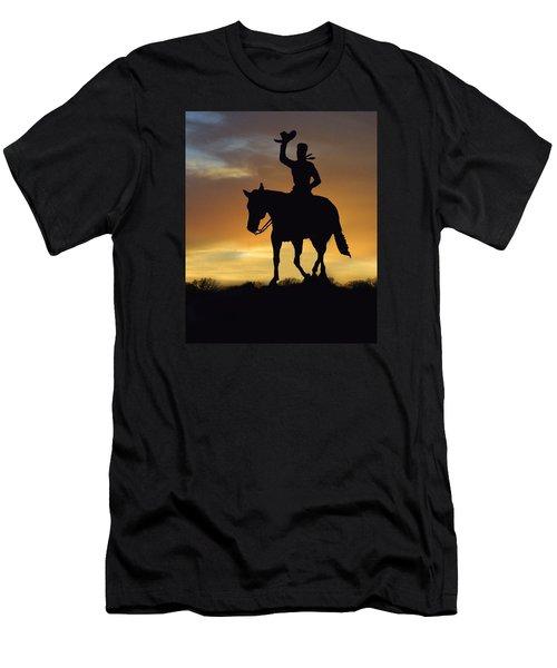 Cowboy Slilouette Men's T-Shirt (Athletic Fit)