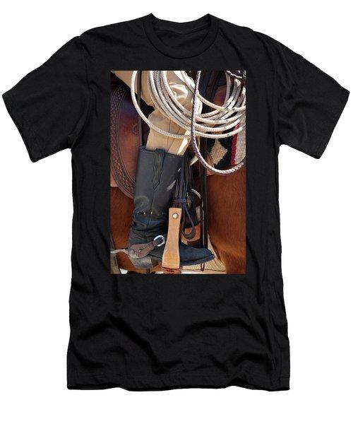 Cowboy Tack Men's T-Shirt (Athletic Fit)