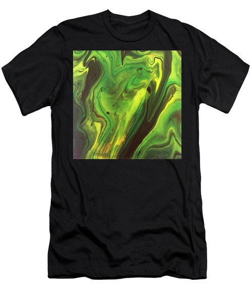 Men's T-Shirt (Athletic Fit) featuring the painting Cowboys And Aliens by Robbie Masso