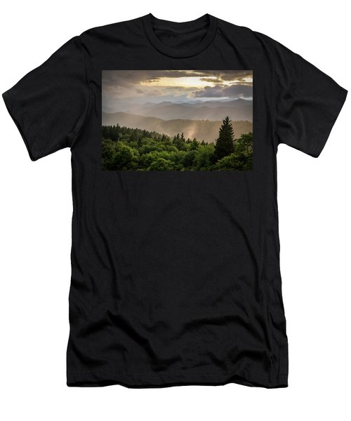 Cowee Mountains Sunset 2 Men's T-Shirt (Athletic Fit)
