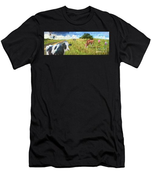 Cows In Field, Ver 1 Men's T-Shirt (Athletic Fit)