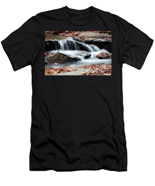 Coxing Kill In Autumn #1 Men's T-Shirt (Slim Fit) by Jeff Severson