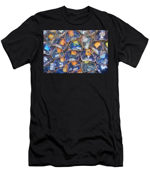 Crab And Lobster Pots On Quayside Men's T-Shirt (Athletic Fit)