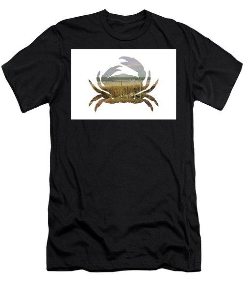 Crab Beach Men's T-Shirt (Athletic Fit)