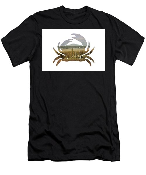 Crab Beach Men's T-Shirt (Athletic Fit)