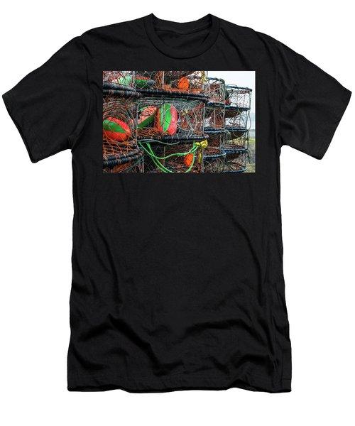 Crab Pots Men's T-Shirt (Athletic Fit)