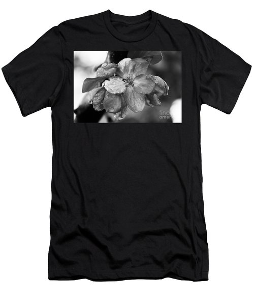 Crabapple Blossom In Rain Men's T-Shirt (Slim Fit) by Marilyn Carlyle Greiner