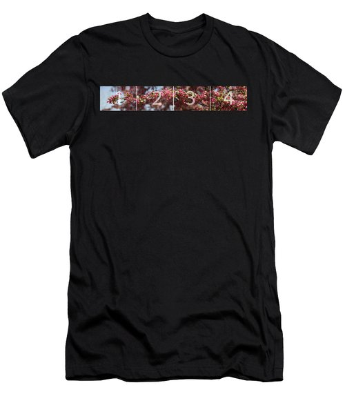 Crabapple In Spring Panoramic Map Men's T-Shirt (Athletic Fit)