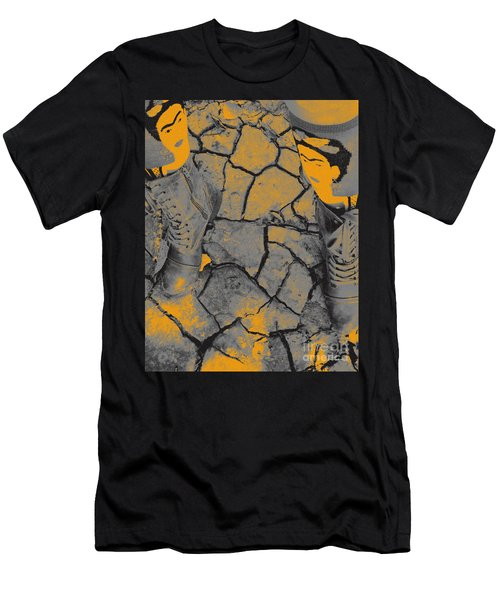 Cracked Earth With Frieda Khalo. Men's T-Shirt (Athletic Fit)