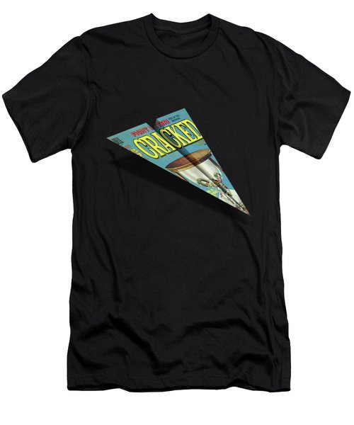 109 Cracked Mad Paper Airplane Men's T-Shirt (Athletic Fit)