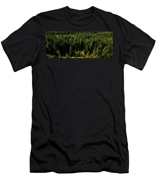 Cracked Rock In The Woods Men's T-Shirt (Athletic Fit)