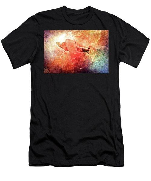 Cracks Of Colors Men's T-Shirt (Athletic Fit)