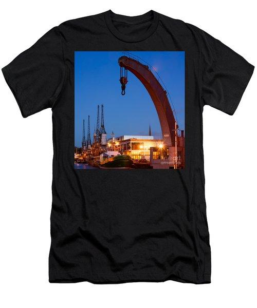 Cranes, Bristol Harbour Men's T-Shirt (Athletic Fit)