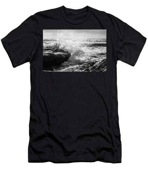 Wave Crashing  Men's T-Shirt (Athletic Fit)