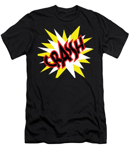 Crash T-shirt And Print By Kaye Menner Men's T-Shirt (Athletic Fit)